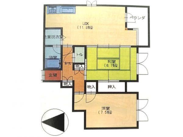 「城郭の官庁街」大手町のマンション7階